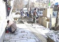 استانداردسازی پیاده رو خیابان بوعلی