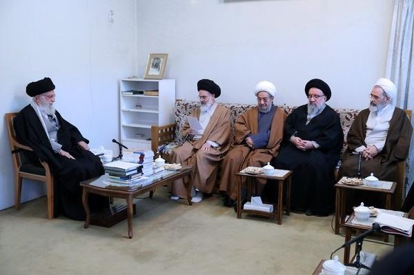 دیدار اعضای شورایعالی حوزههای علمیه با رهبر انقلاب