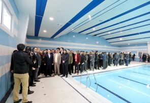 استخرهای سرپوشیده مریانج و اسدآباد با حضور وزیر ورزش افتتاح شد