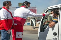 پایش و تبسنجی در ورودی استان همدان توسط امدادگران هلال احمر