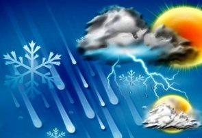 بارش باران و کاهش دمای هوا در استان همدان