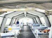 بیمارستان صحرایی برای پذیرش بیماران کرونایی در همدان