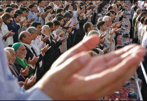 برگزاری نماز عید فطر در مسجد جامع شهر همدان
