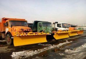آماده باش ۲۵۰ دستگاه ماشین آلات برف روبی برای پاکسازی معابر همدان