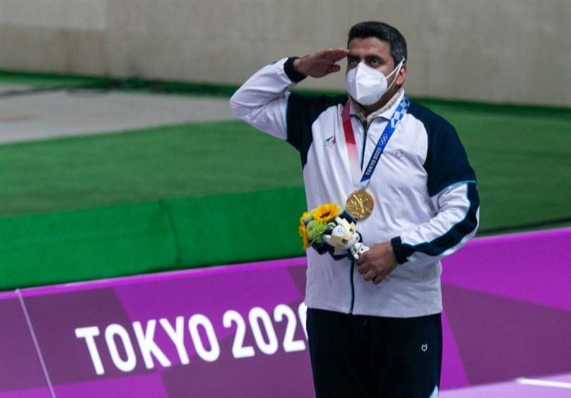 فروغی اولین مدال کاروان ایران را کسب کرد / تاریخ سازی تپانچه ایران در المپیک توکیو با رنگ طلایی