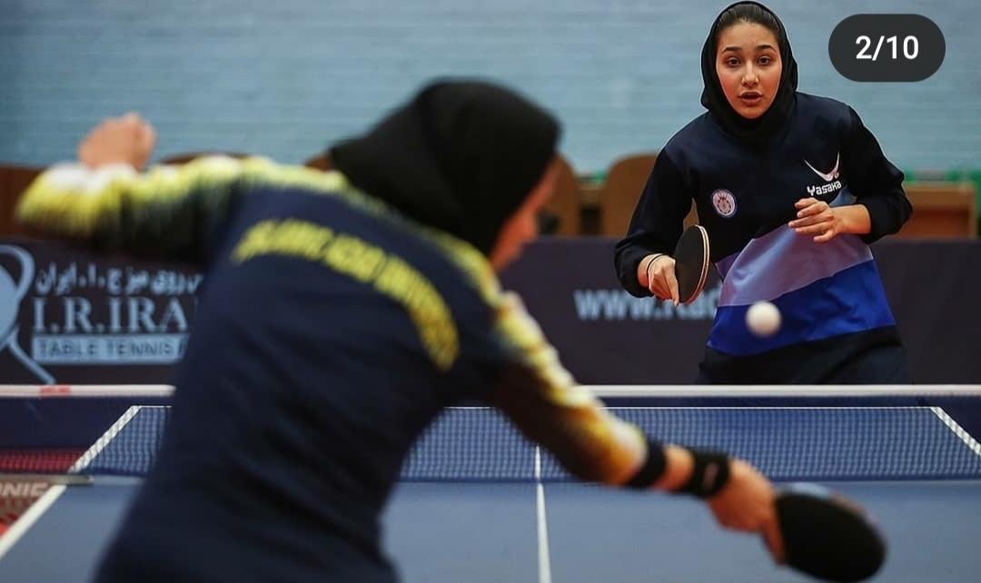 برگزاری مسابقات لیگ برتر تنیس روی میز دختران کشور در همدان