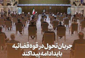 دیدار رئیس و مسئولان قوه قضائیه با رهبر انقلاب