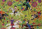 خلق اثر کودک همدانی در المپیاد هنری آمریکا